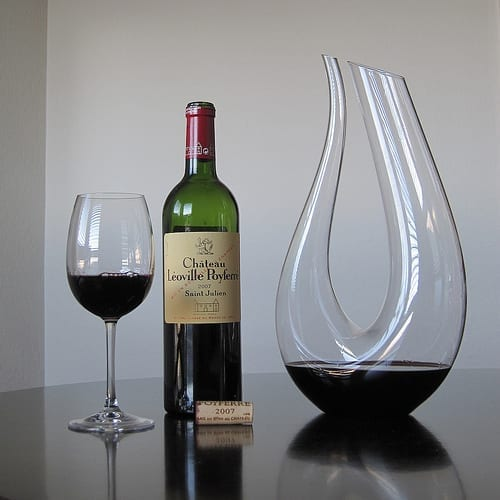 Old wine in a decanter
