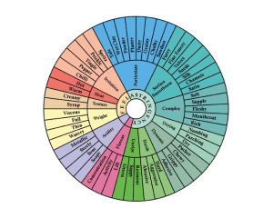 Mouthfeel wheel for tannin